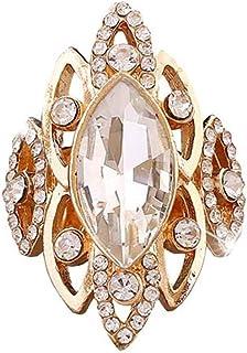 Jnday - Anelli Decorativi da Donna Aperti con Cristalli