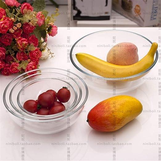 Vajilla Horno de cristal especial recipiente redondo microondas a ...
