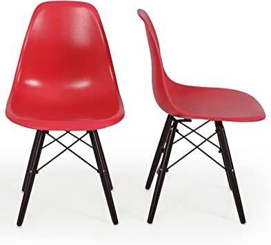 2 available Great condition hardly used. RED Eames style chair