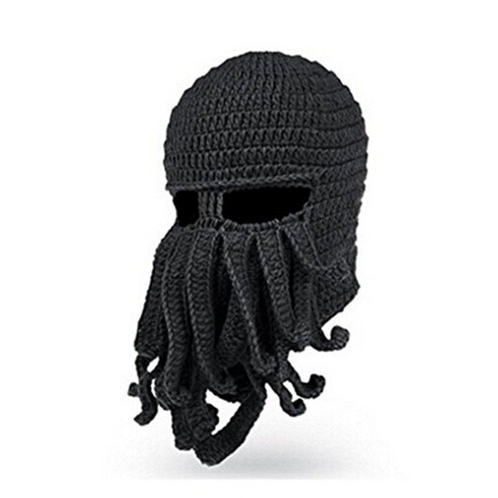 f5b8f6740 gloednApple Windproof Octopus Winter Warm Knitted Wool Beard Squid Beanie  Hat Cap