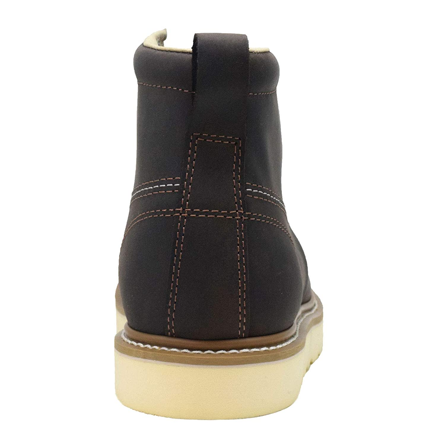 Lightweight Comfortable Outsole Golden Fox Work Boots Mens 6 Plain Toe Wedge Boot for Construction