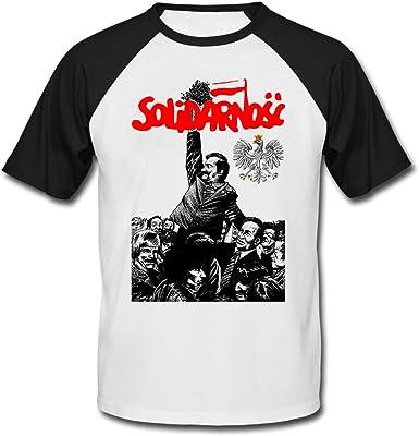 teesquare1st Solidarnosc Camiseta DE Mangas Negra Cortas T-Shirt: Amazon.es: Ropa y accesorios
