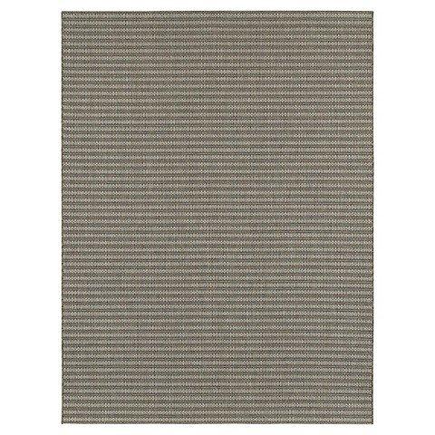 Smith & Hawken 8'x10' Outdoor Rug - Coffee Stripe Basketweave by s