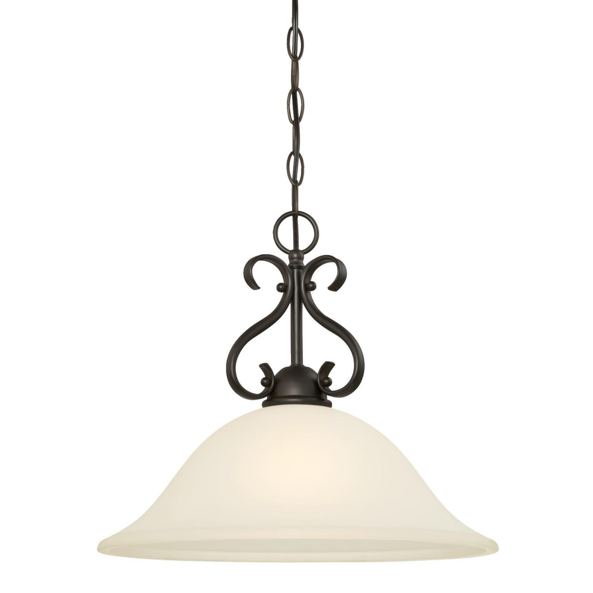 6306000 Dunmore One-Light Indoor Pendant, Oil Rubbed Bronze Finish with Frosted Glass