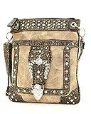 Western Rhinestone Buckle Messenger Handbag, Bags Central