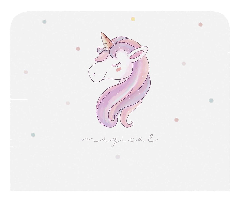 clásico atemporal Miroytengo Cabecero Infantil Unicorn con con con impresión Decorativa de Unicornio y Topos de Colores habitación Juvenil 110x90 cm  grandes ofertas