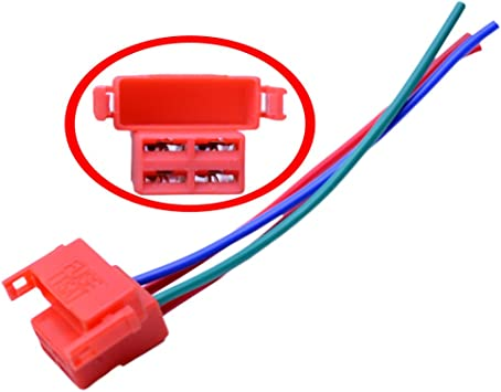 amazon.com: flypig 4-way starter solenoid relay plug connector wiring  harness for honda cbr600 cbr900 cbr929 cbr954 cbr1100xx vtr f2 f3- red:  automotive  amazon.com