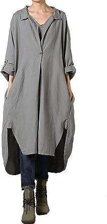 Vestido De La Camisa De Las Mujeres Algodón De Tamaños ...
