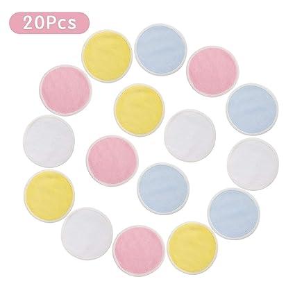 Funhoo - Almohadillas reutilizables para quitar maquillaje, 20 unidades con bolsa para la colada,