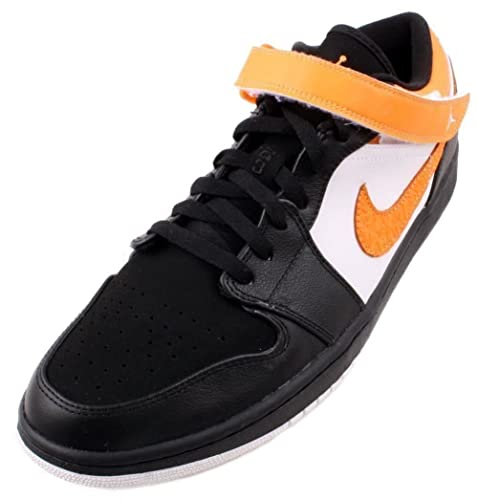 720622e3ca3cc3 Nike Men s Air Jordan 1 Strap Low Basketball Black Bright Citrus White US 12