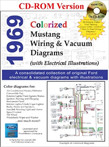 1969 colorized mustang wiring & vacuum diagrams multimedia cd – february 8,  2008
