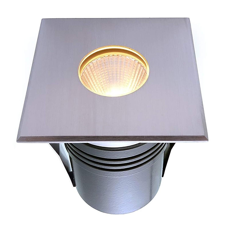 Bianco caldo LED Kennzeichenleuchte quadratisch Außen IP67 Unterputz Untergrund 6w 24Vdc Spot Bianco caldo