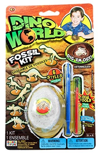 Dino World Fossil Kit With Real Tools, ()