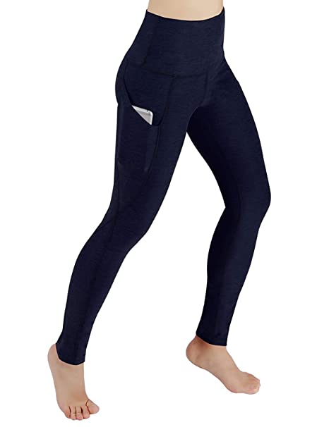 641f2577f99cf Amazon.com: Shirendao High Waist Out Pocket Yoga Pants Tummy Control ...