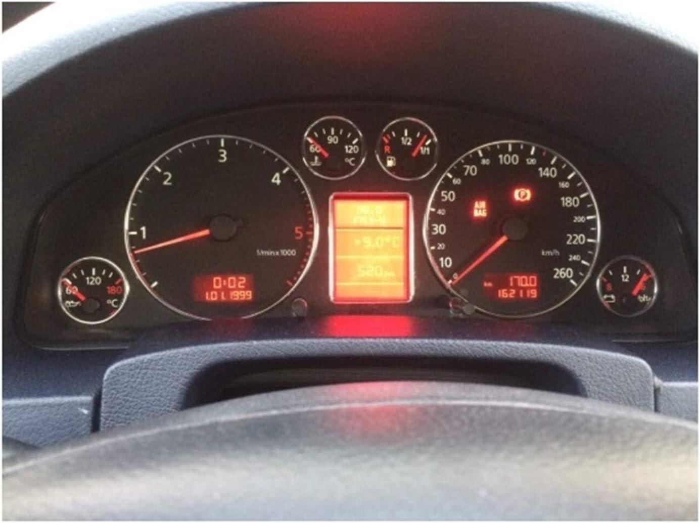 Claral Chrome Veloc/ímetro medidor de cuadrante Anillo Instrumento Anillo Panel for Audi A3 8L A4 8D B5 A6 4B C5 Claral