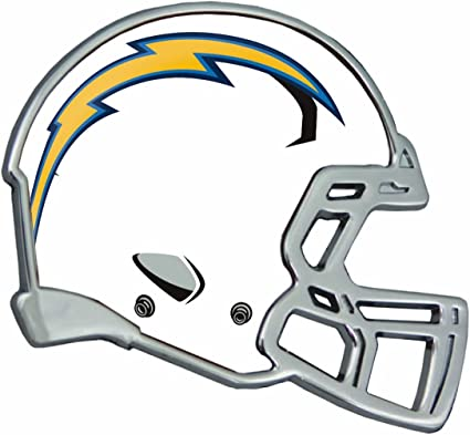 """SAN DIEGO CHARGERS Football Helmet FRONT /""""CHARGERS/"""" Decal"""