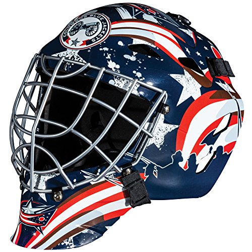 Franklin Sports GFM 1500 NHL Columbus Blue Jackets Goalie Face Mask (Abs Jacket)