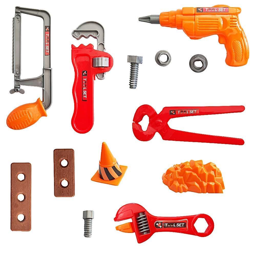 SUPER TOY Mechanics Automobile Tools Kit Toy Set for Kids - Pack of 10,Plastic,Multi color