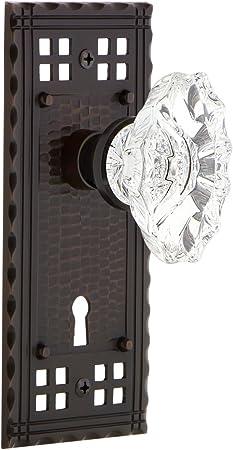 Nostalgic Warehouse Craftsman Plate With Keyhole Single Dummy Chateau Door Knob In Timeless Bronze Amazon Com