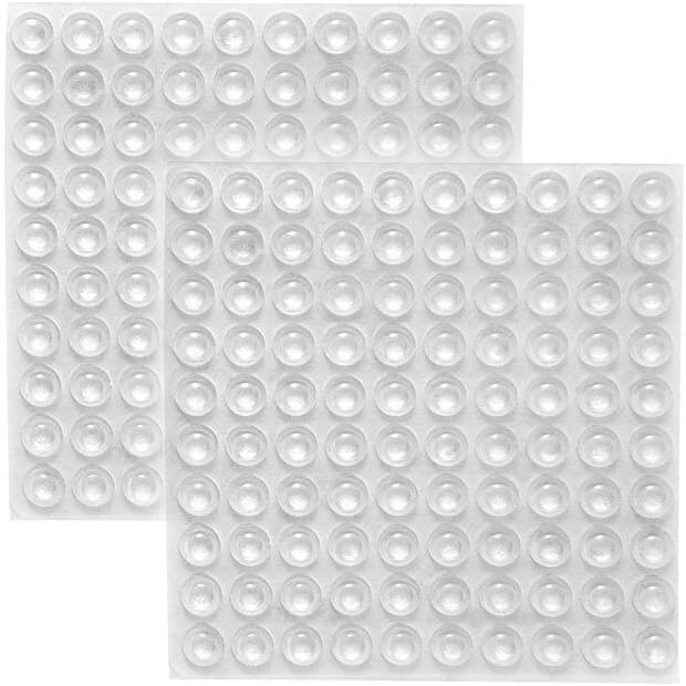 ROCHU Self-Adhesive Clear Rubber Feet Tiny Bumpons for Furniture Table Laptop 200 PCS