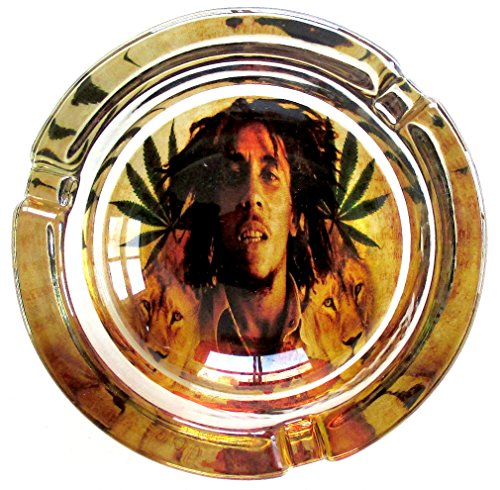 Bob-Marley-Lion-Pride-Marijuana-Weed-Round-Glass-Ashtray