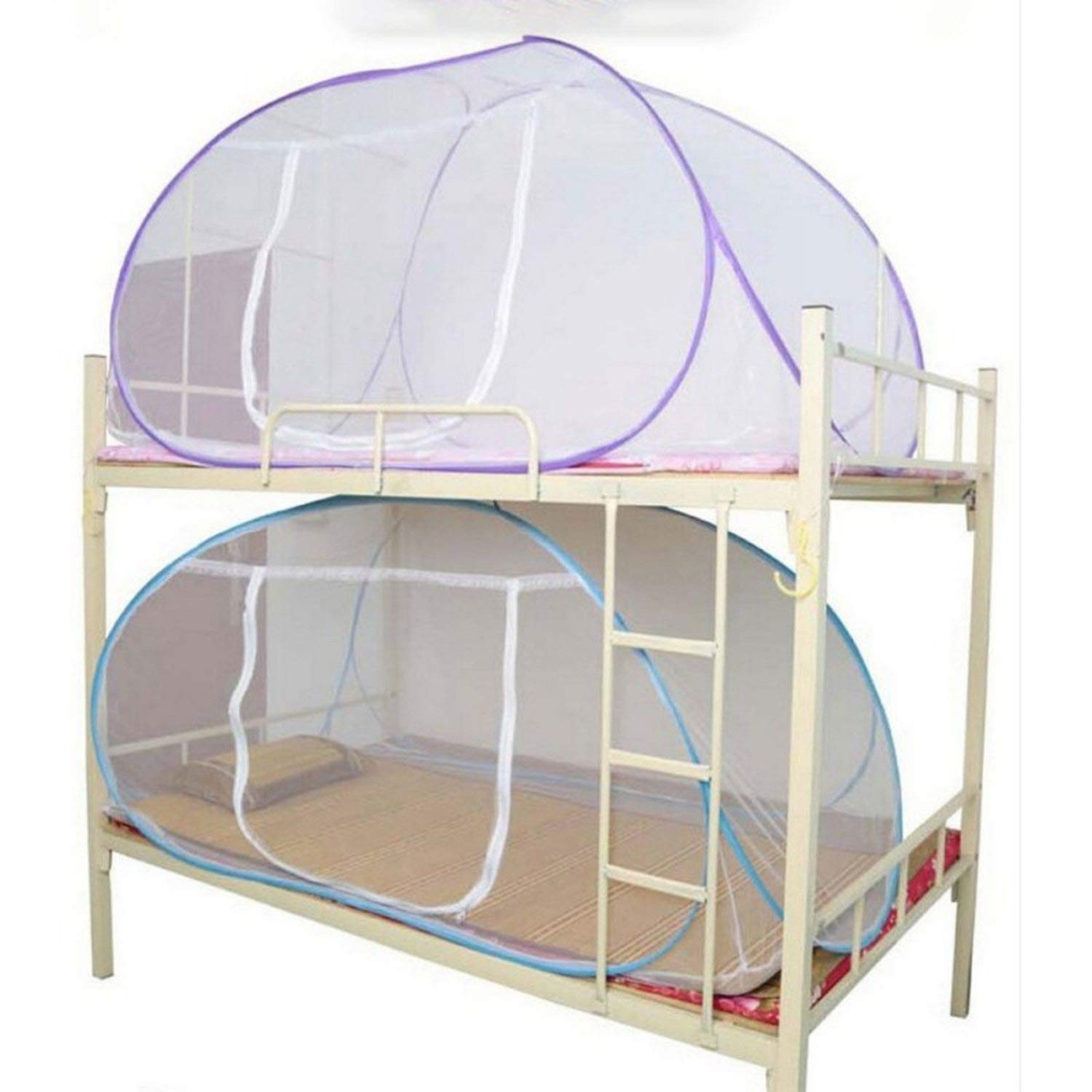Mosquito Net for Bed Pink Blue Purple Student Bunk Bed Net Mesh Adult Double Bed Netting Tent Mosquito,D by Try My Best Mosquito Net (Image #1)