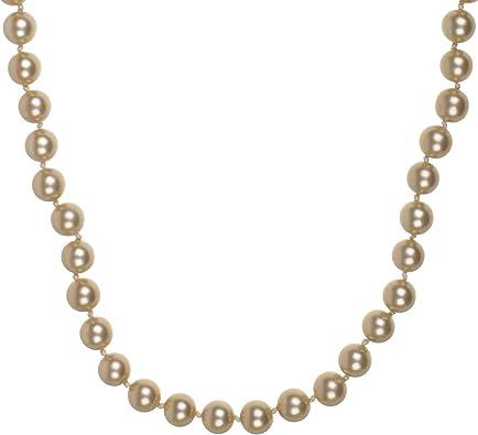 NEU! Perlenkette mit goldfarbigen 11 mm Muschelkernperlen 44 cm lang