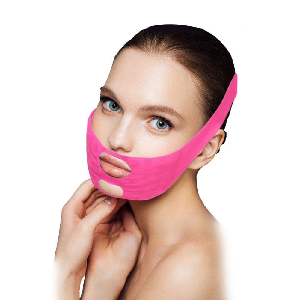 Cintura dimagrante a guancia, Supporto faccia dimagrimento viso mento guancia sollevare cintura dimagrante banda maschera antirughe Filfeel