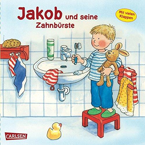 Jakob und seine Zahnbürste (Kleiner Jakob) Pappbilderbuch – 21. März 2004 Nele Banser Peter Friedl Carlsen 355116276X