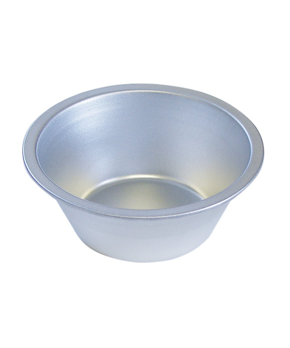 R& M International 2278 Tinplated Steel 5 Diameter, 2 Deep Individual Pie Pan RM-2278