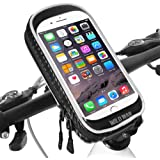Soporte Movil Bicicleta Impermeable Universal 360 Grados Rotación Soporte Bolsa Movil Bicicleta con Pantalla Táctil Sensible Bolsa Telefono Bicicleta para iPhone X / 8 Plus/Samsung S9 (6,3 Pulgadas)