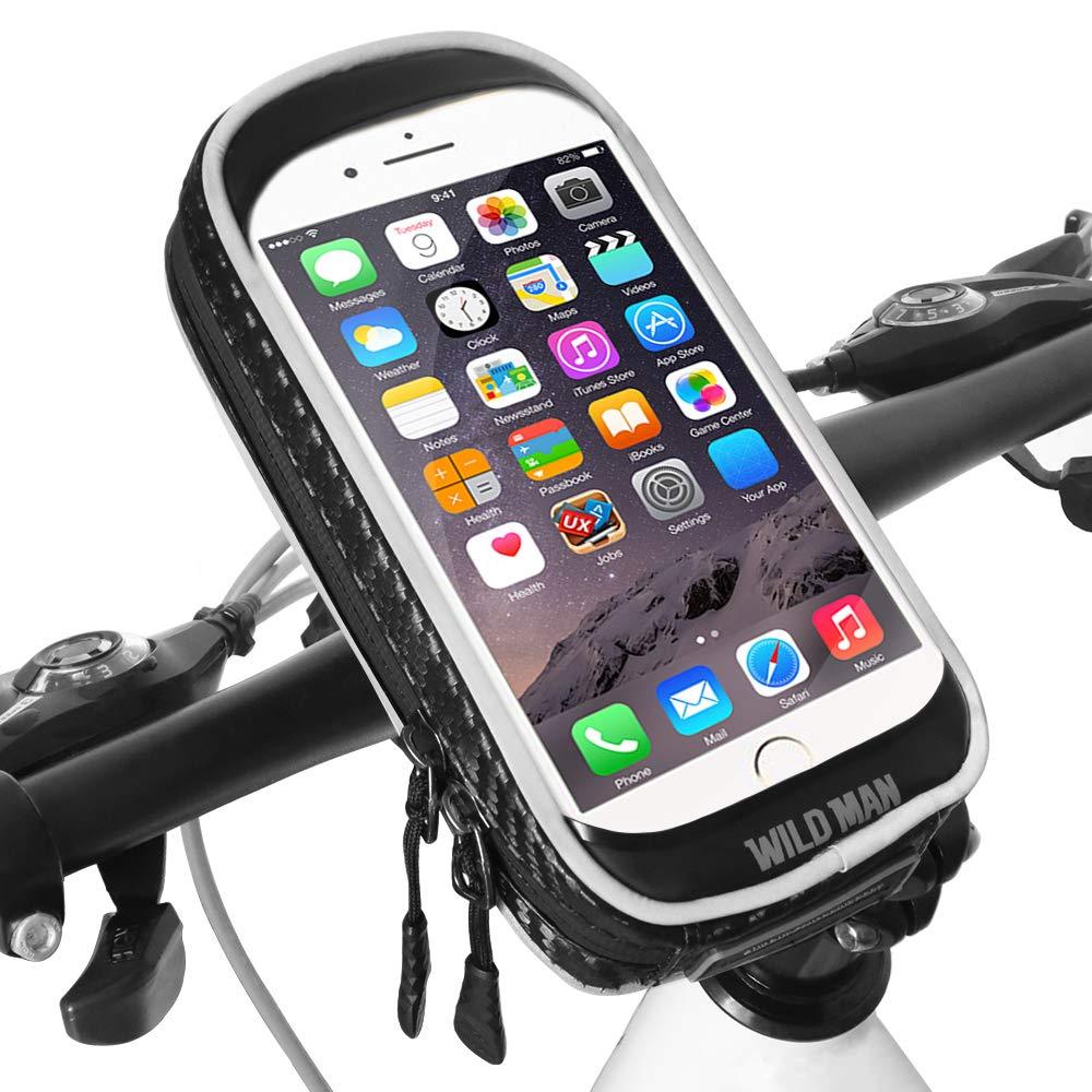 Supporto Bici Smartphone Impermeabile 360° Rotazione Supporto Manubrio Moto Smartphone con Sensibile Touchscreen Supporto Moto MTB per iPhone XS Max/XR/Samsung Note 9 (Cellulari sotto 6, 6 Pollice) XBoze