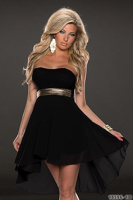 d617c3f7627 Amazon.com: Ulike2 Women Nightclub Sexy Lace and Soft Chiffon Cocktail  Strapless Party Dress Prom Evening Dress (M, Black): Arts, Crafts & Sewing