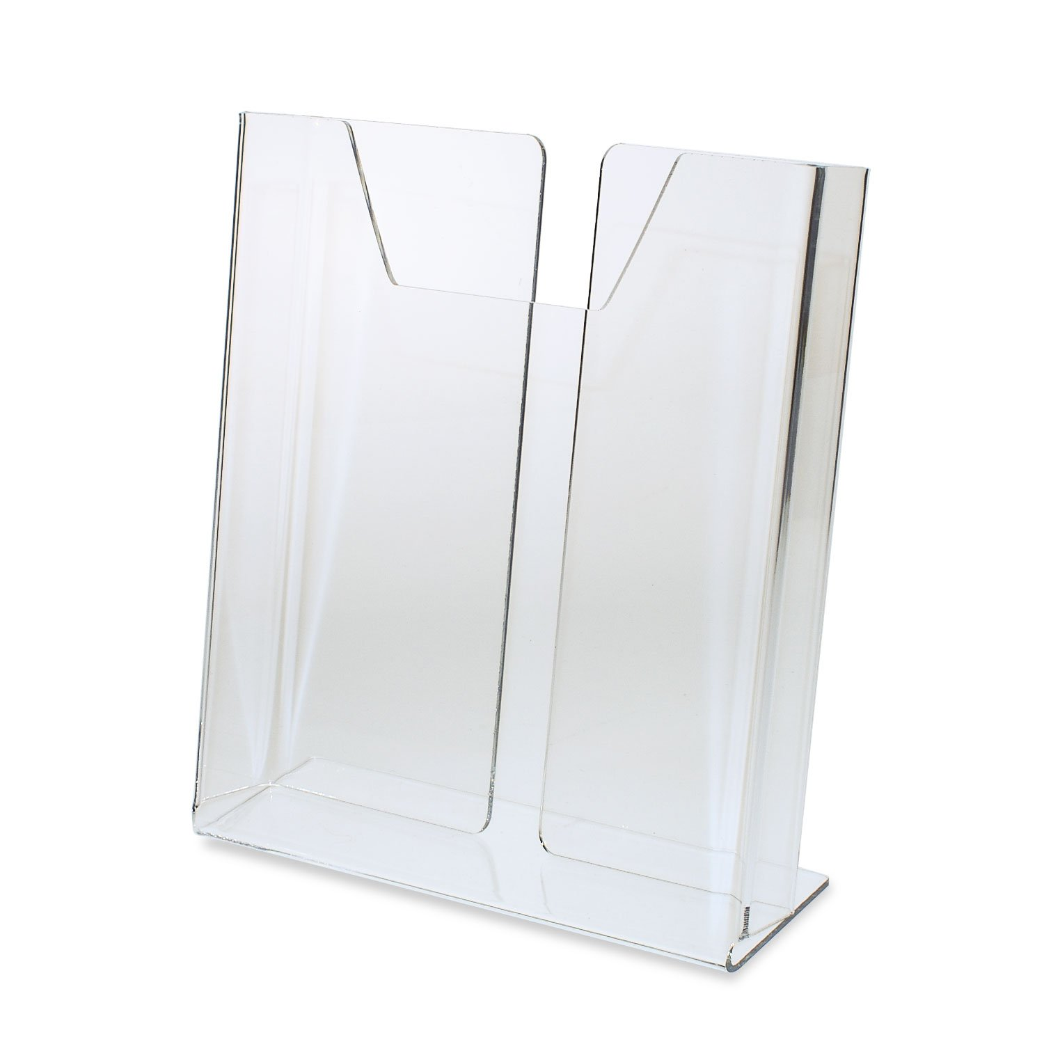 Source One Premium Counter Top TriFold 4-Inch Wide Acrylic Brochure Holder (6 Pack Deluxe)