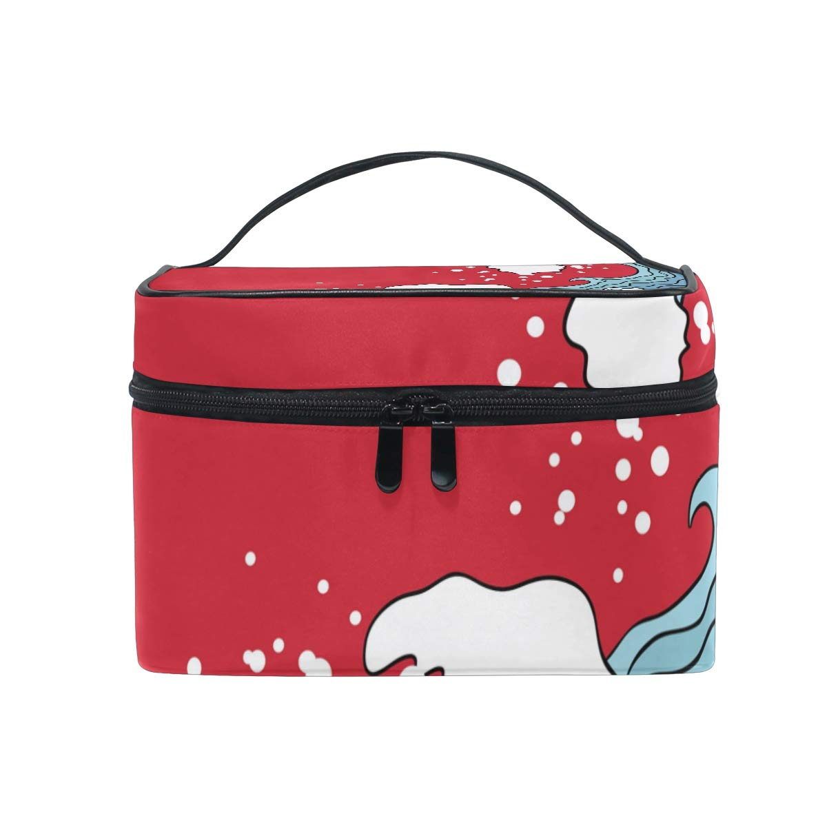1dda81a62b7a Amazon.com : DERLONKAJE Makeup Bag An Ancient Great Japanese Wave ...
