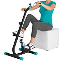VITALmaxx Fitness trainer Duo, Cyclette 2 in 1, Nero/Turchese