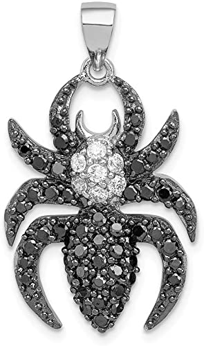 2Ct Round Cut White Simulated Diamond Solitaire Cat Pendant 14K White Gold Finish 925 Sterling Silver