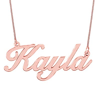 amazon com hacool personalized necklace custom name necklaces rose