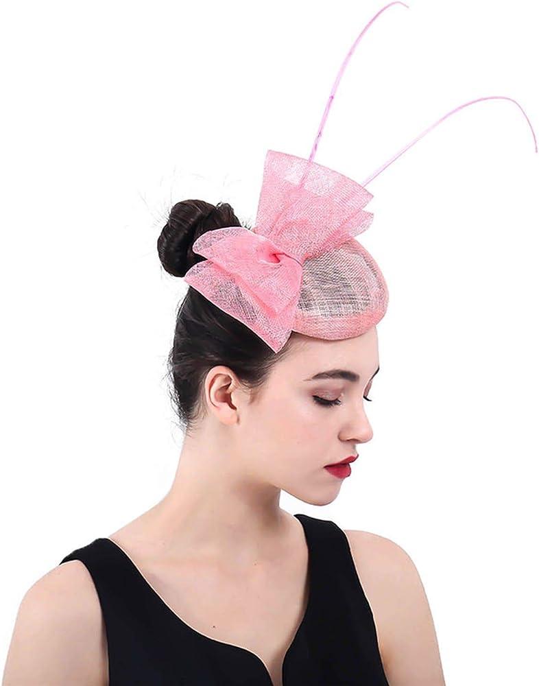 Dusky pink fascinator wedding races special occasion clip comb headband