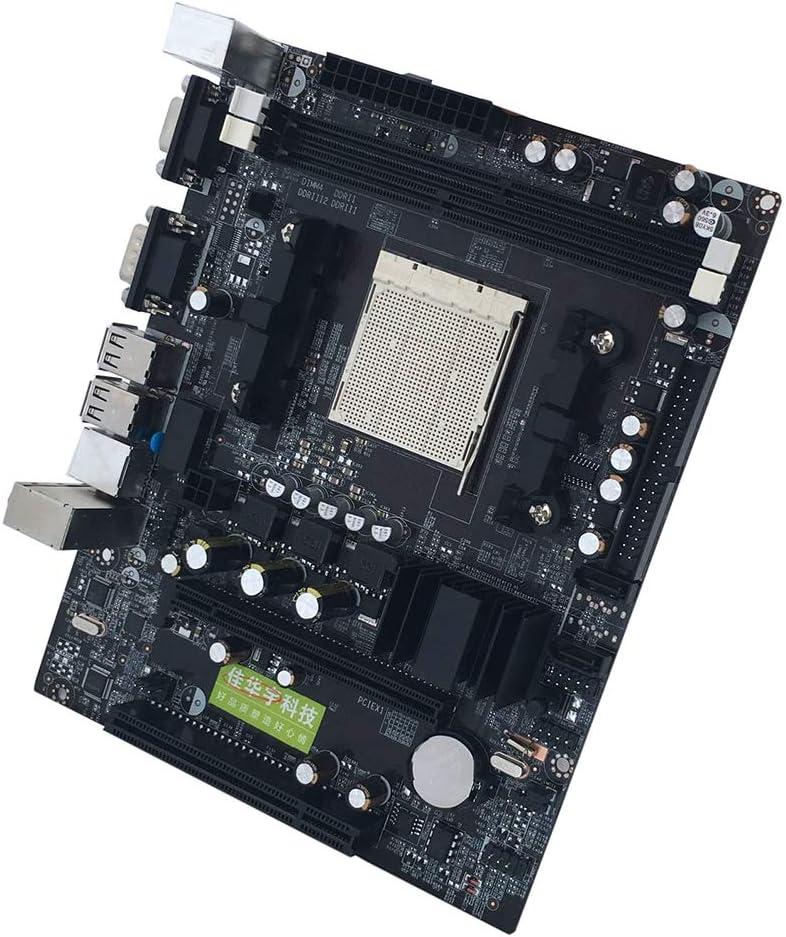 elegantstunning Desktop Computer Motherboard Support CPU DDR2+DDR3 Memory Mainboard with 4 SATA2 Ports for AM2 AM3 C61