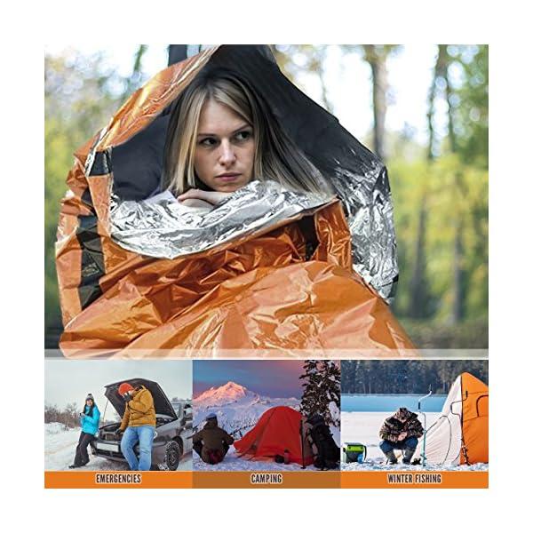 BRAMBLE! Premium Saco de Dormir de Emergencia, Bivvy - Supervivencia Impermeable Manta 3