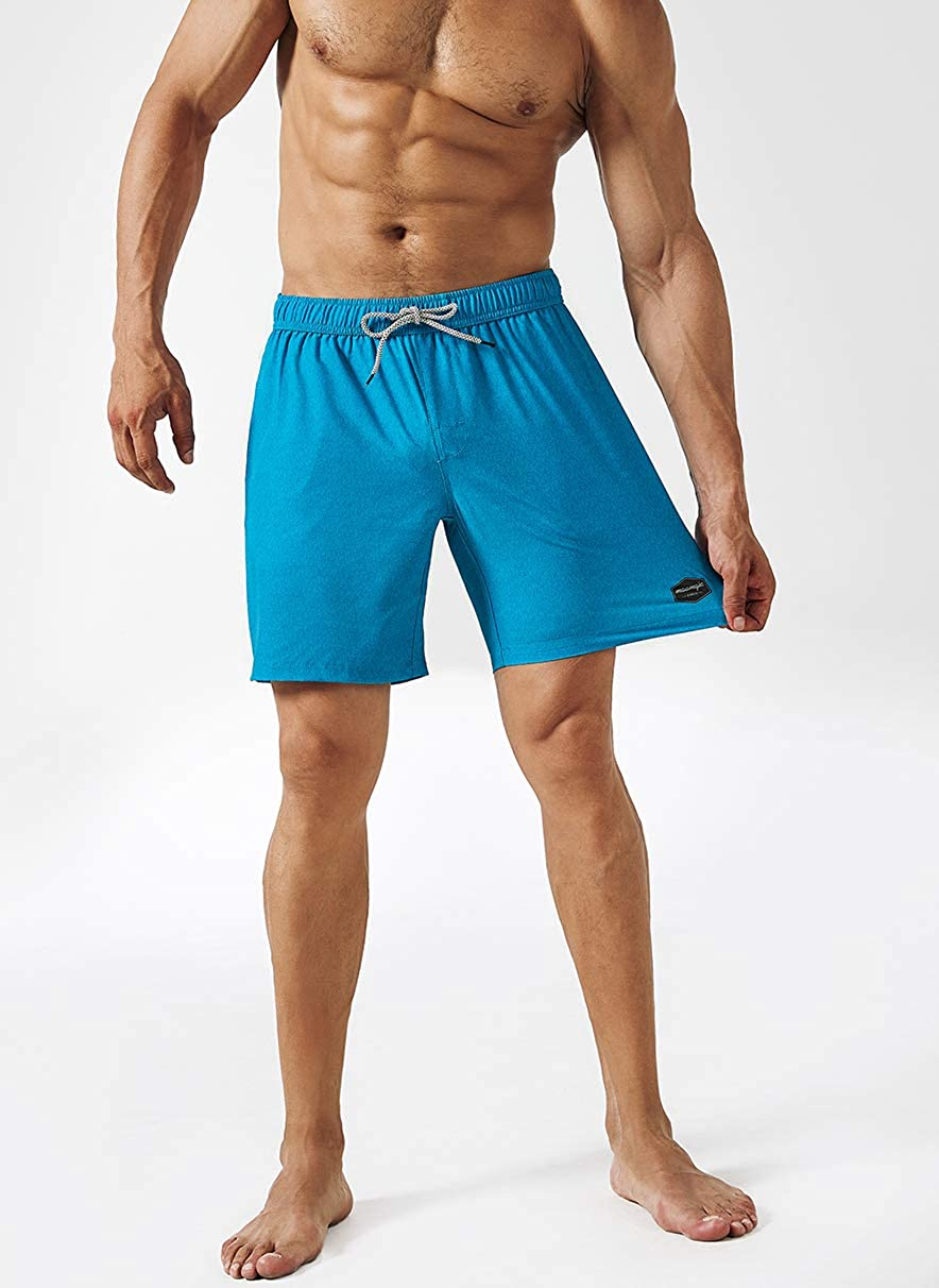 MaaMgic Mens Swimming Trunks Quick Dry Fit Performance Surfing Short with Pockets