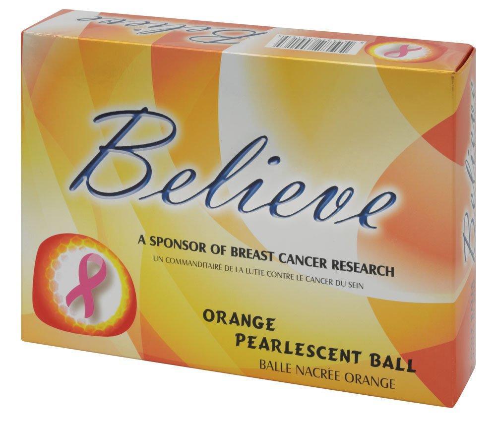 Believe Ladies Pearlescent Golf Balls - Three Dozen (Orange)