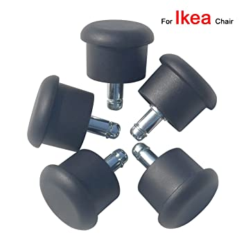 mysit bell glides 5pcs heavy duty replacement for ikea chairs 10x22mm stem changing movable - Chair Glides