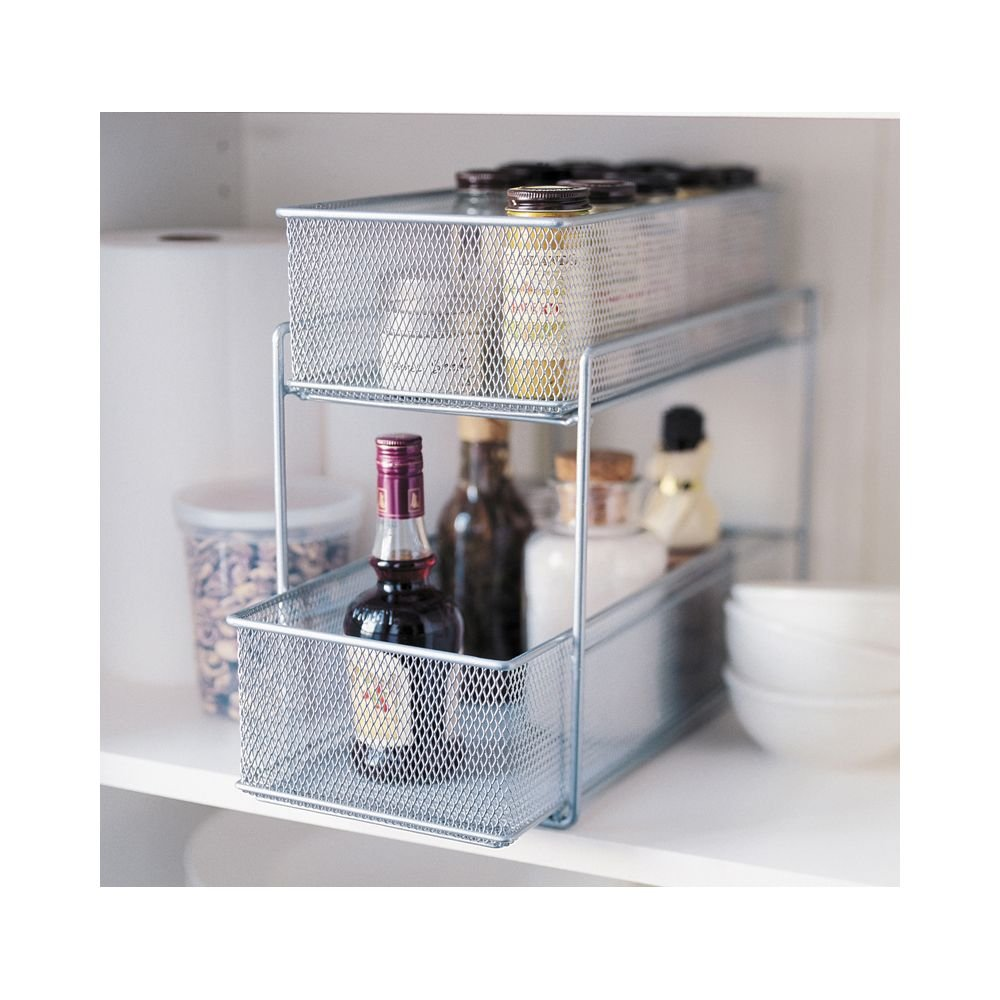 Amazon.com: Design Ideas Cabinet Baskets-Mesh-Silver: Home & Kitchen