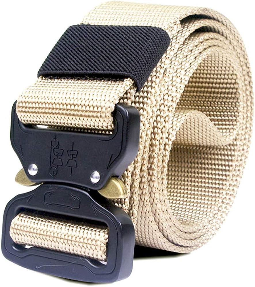 Tactical Military Nylon Belt Men Army Style Belt Automatic Metal Buckle Cinturon