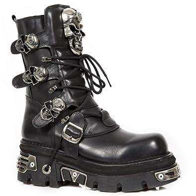 01cea77ea33 New Rock - Botas de cuero para mujer negro negro 38  Amazon.es  Zapatos y  complementos