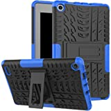 "Maomi AMZ flre 7"" (2017 Release) Case,[Kickstand Feature],Shock-Absorption/High Impact Resistant Heavy Duty Armor Defender Case for AMZ flre 7 Inch 2017 Tablet (Blue)"