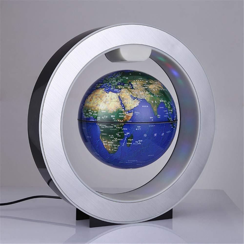 INTER FAST Globe magnétique en Forme de O Suspension 3 Pouces Rotation Lumineuse Nouvelle décoration étrange Cadeau créatif Artisanat Artisanat