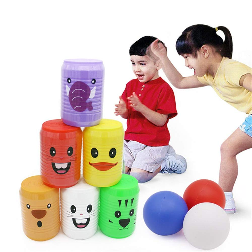 KMCMYBANG Bowling Toy Bowling Pins Bowling Set Toy 6 Colorful Pins 3 Balls Educational Development Sports Indoor Outdoor Play Game for Kids Children Toddlers Kids Bowling Toys by KMCMYBANG